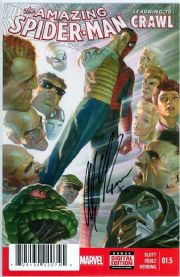 Amazing Spider-man #1.5 First Print Dynamic Forces Signed Alex Ross DF COA Marvel comic book